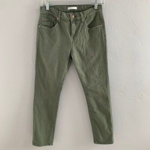 7 For All Mankind Distressed Ankle Skinny Jeans 25